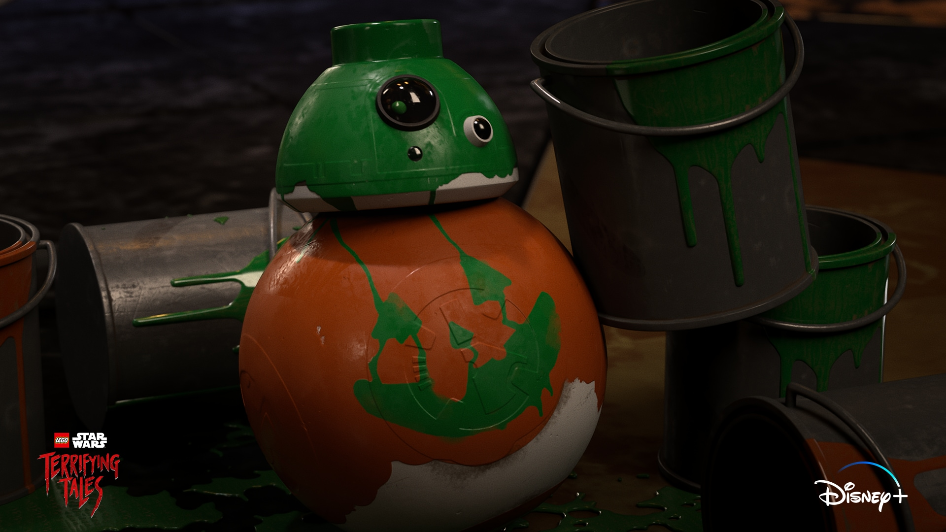 BB-8 in LEGO STAR WARS TERRIFYING TALES exclusively on Disney+. ©2021 Lucasfilm Ltd. & TM. All Rights Reserved.
