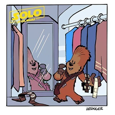 These Lil' Chewie Cartoons Inspired by Solo: A Star Wars Story Are the Cutest Things in the Galaxy