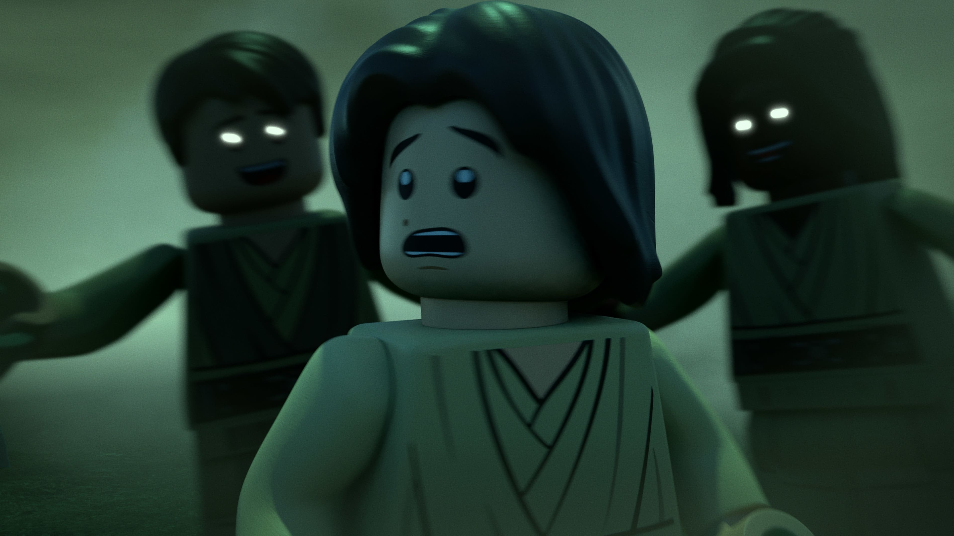 (Center): Ben Solo in LEGO STAR WARS TERRIFYING TALES exclusively on Disney+. ©2021 Lucasfilm Ltd. & TM. All Rights Reserved.