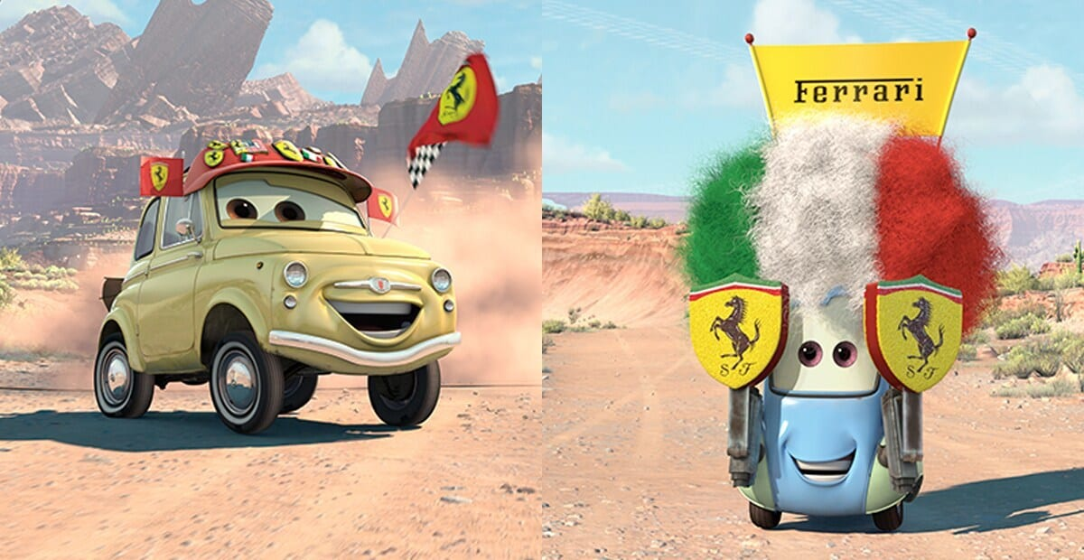 """Luigi and Guido from the movie """"Cars"""""""