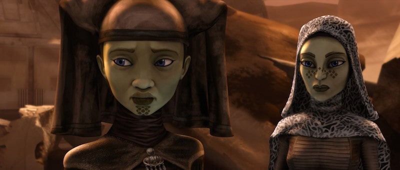 Luminara Unduli and Barriss Offee on Geonosis