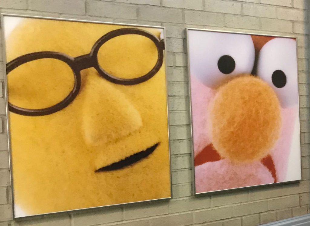 Fotos penduradas nos corredores