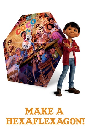 Disney.Pixar Coco - Make a Hexaflexagon
