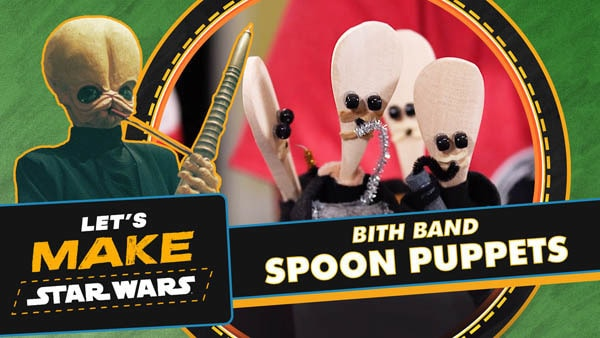 Let's Make Star Wars - Bith Band Spoon Puppets