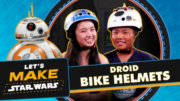 Let's Make Star Wars - Droid Bike Helmets