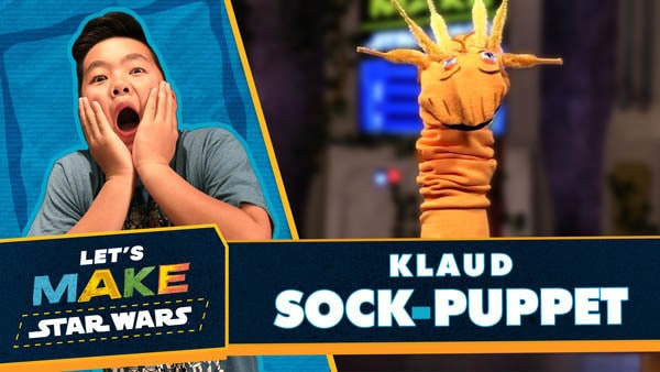 Let's Make Star Wars - Klaud Sock Puppet