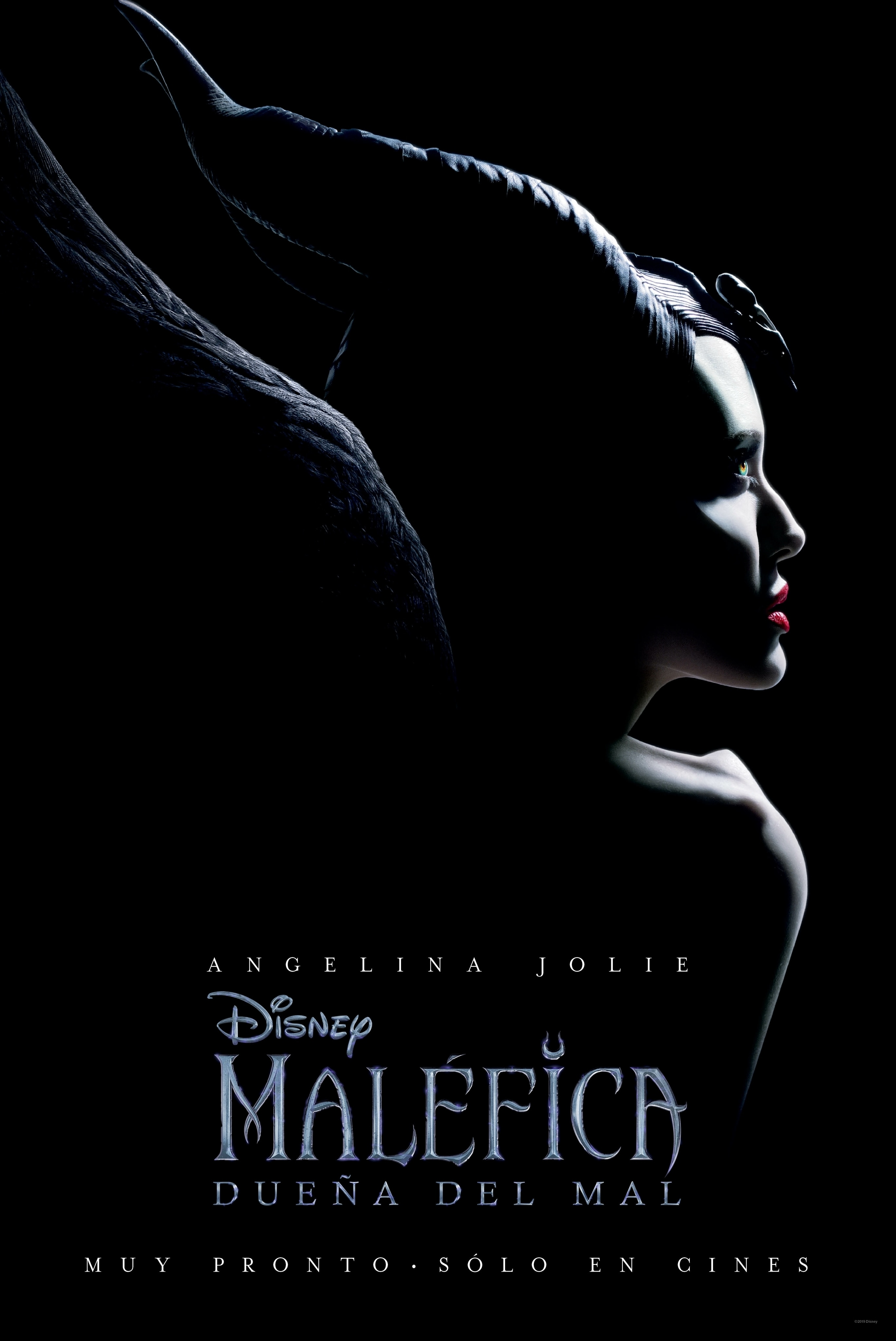 Close up Angelina Jolie as Maleficent