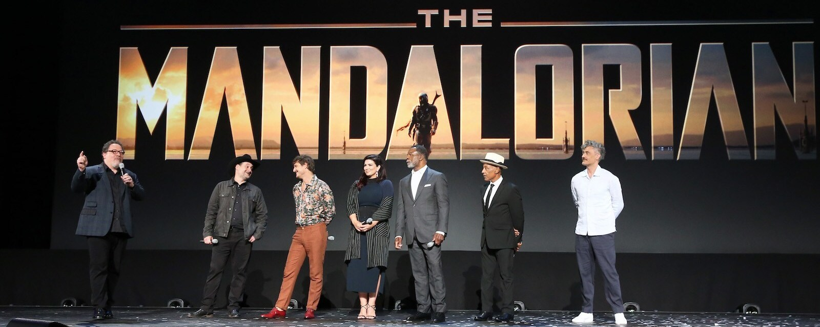 Cast of Mandalorian on D23 Stage