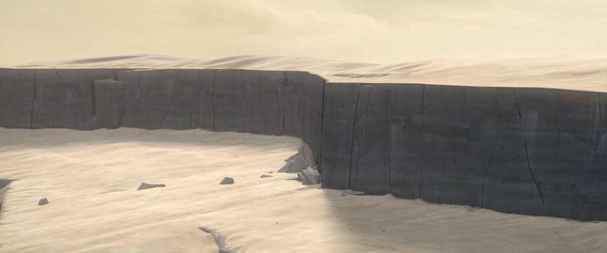 Mandalore's barren landscape