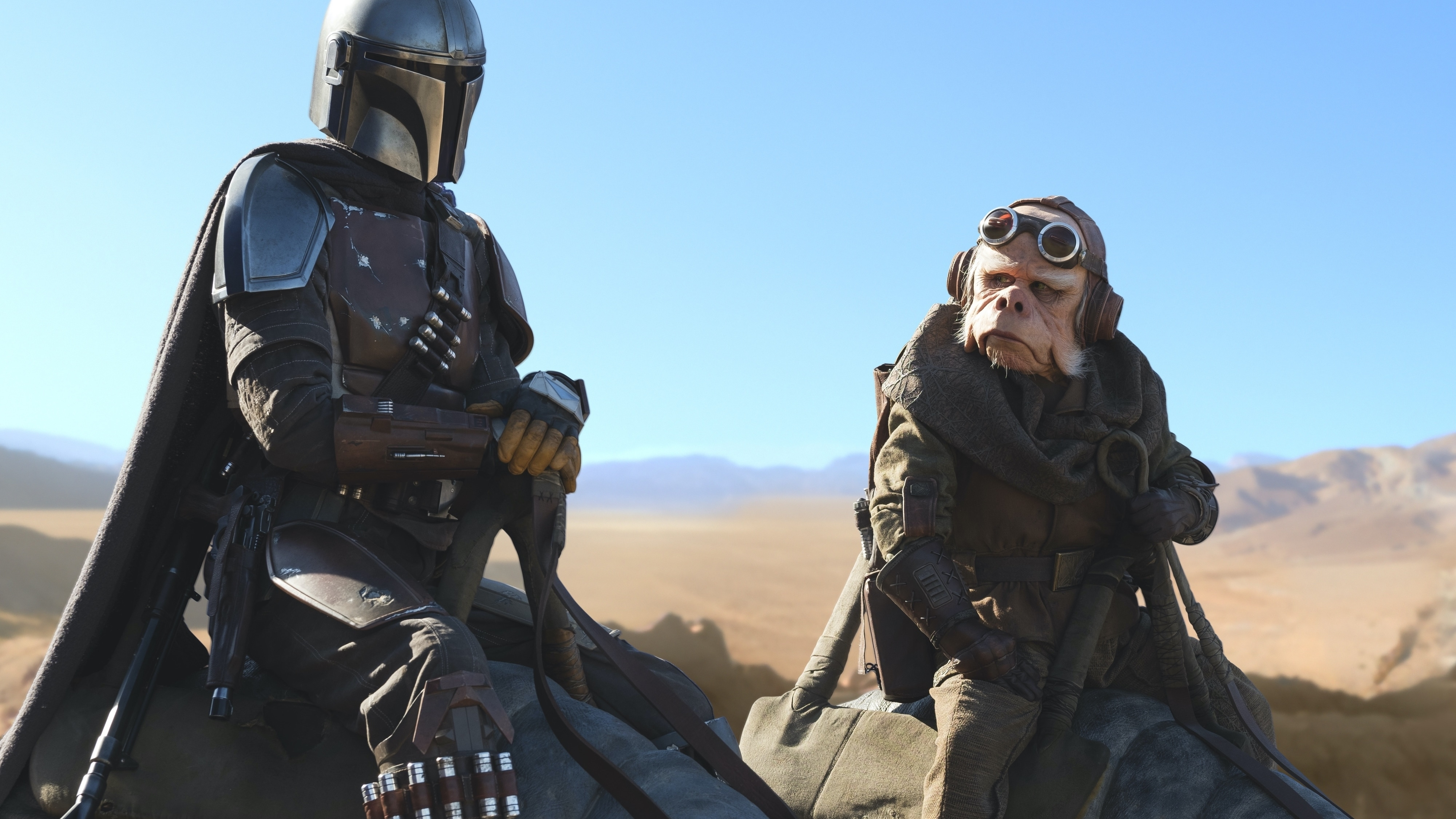 Pedro Pascal is the Mandalorian and Nick Nolte is Kuiil in THE MANDALORIAN, exclusively on Disney+