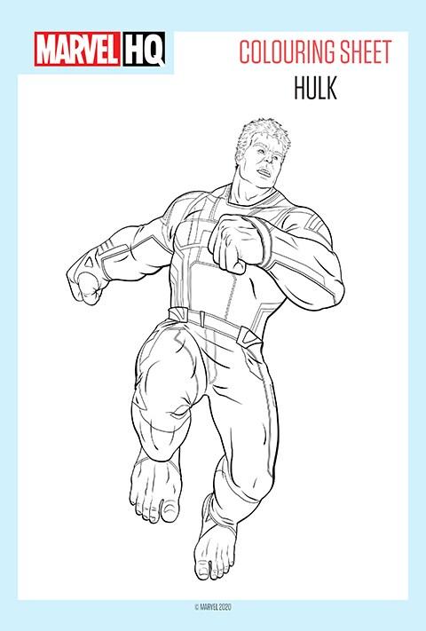 Hulk colouring sheet