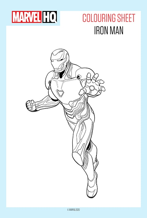Marvel - Iron Man Colouring sheet PDF