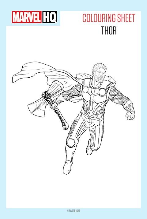 Marvel - Thor Colouring sheet PDF