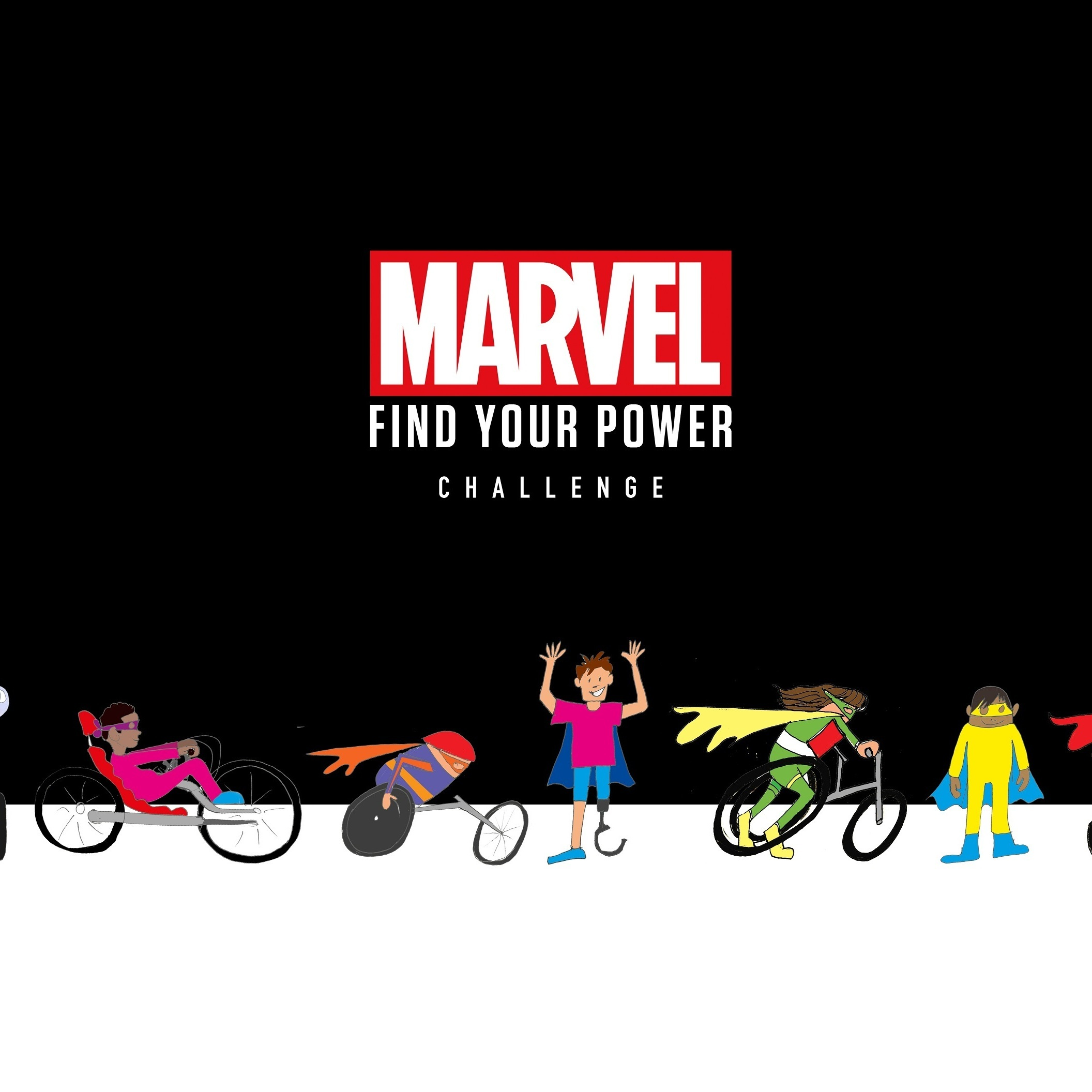 Marvel's 'Find Your Power Challenge' – Lee Ridley, Briony Williams, Sophie Morgan, Rhianna Clements and Jordan Jarrett Bryan announced as celebrity team captains