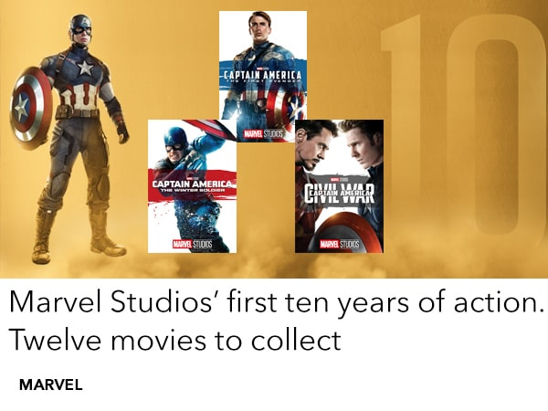 Shop the Marvel Studios First Ten Years movie collection
