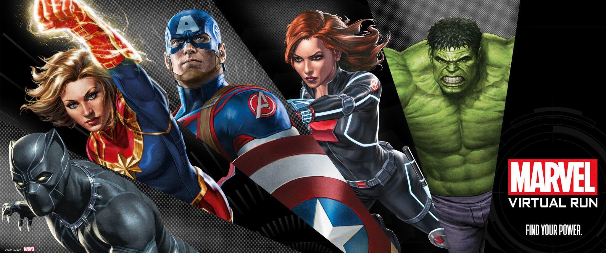 Marvel Content Hub | Virtual Run | Marvel Branded Page | Marvel
