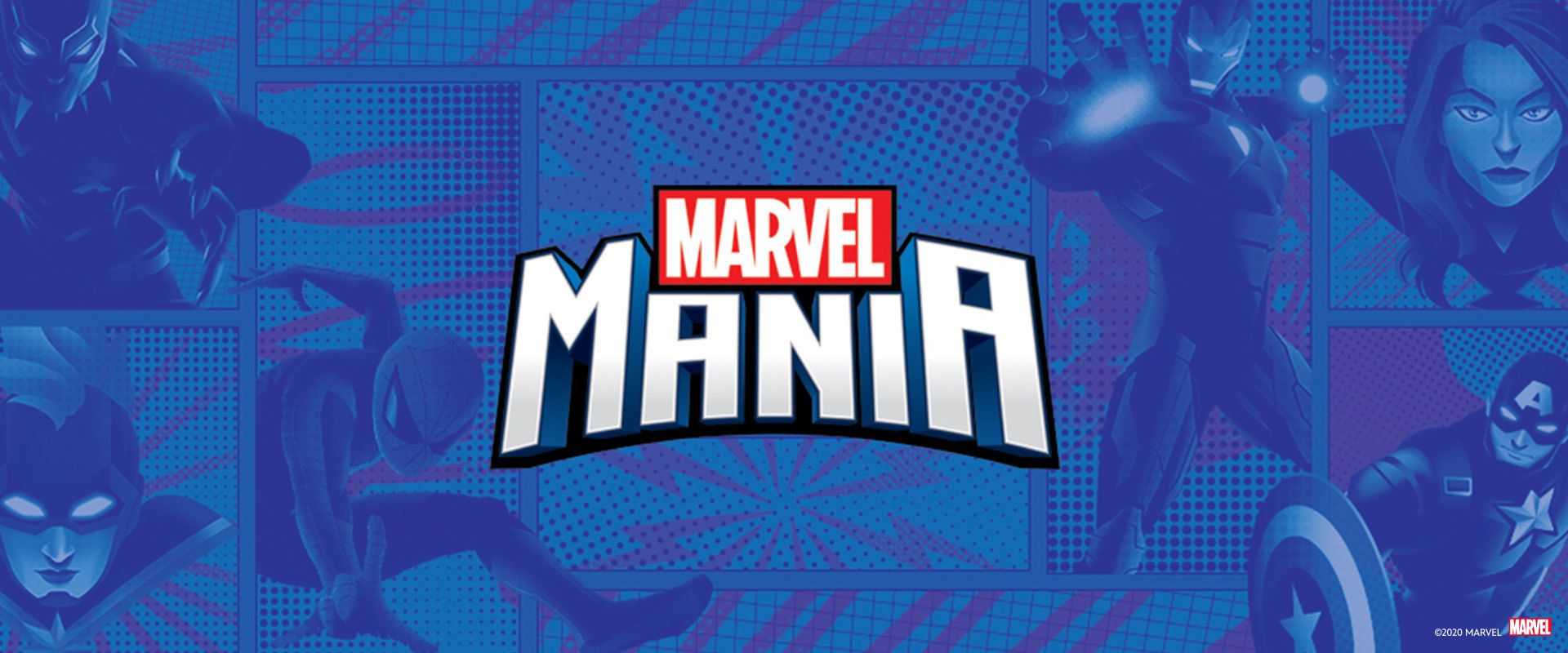 Shop Page Hero Banner - Marvel Mania Promotion
