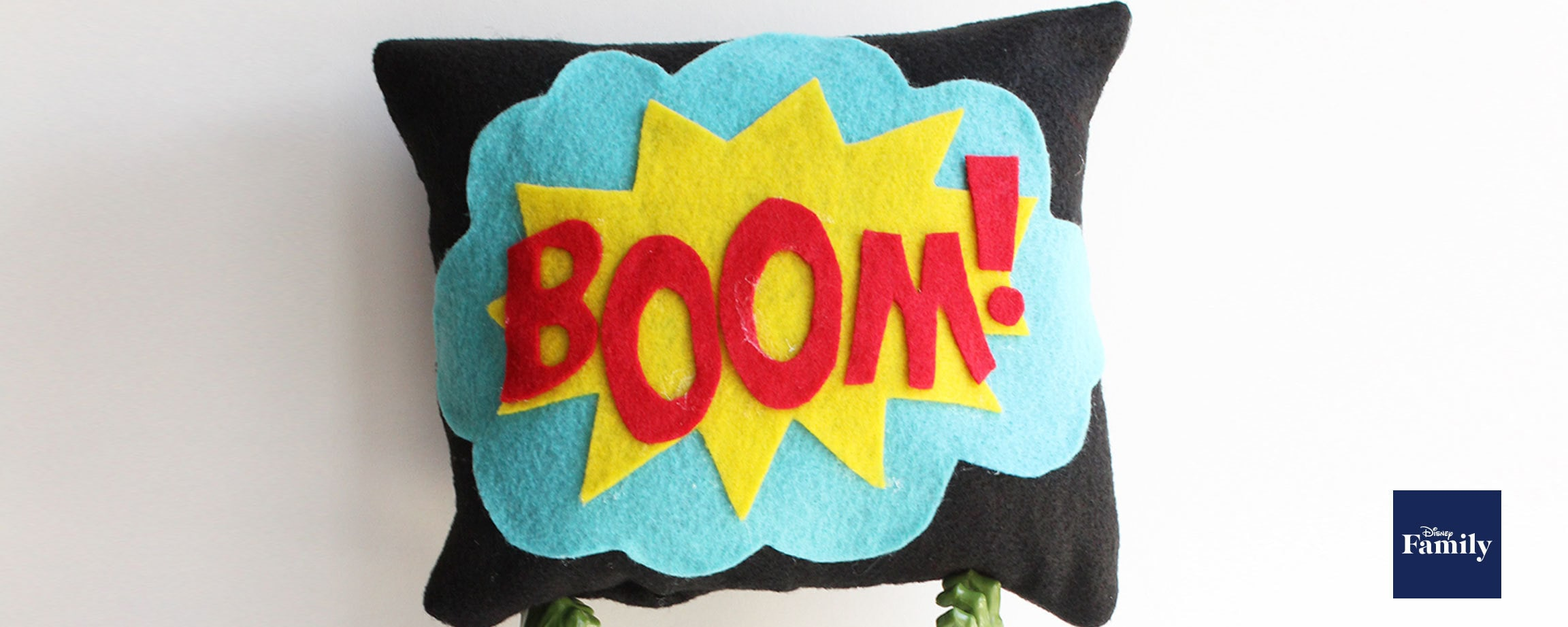 MARVEL Superhero-Inspired No-Sew Pillow