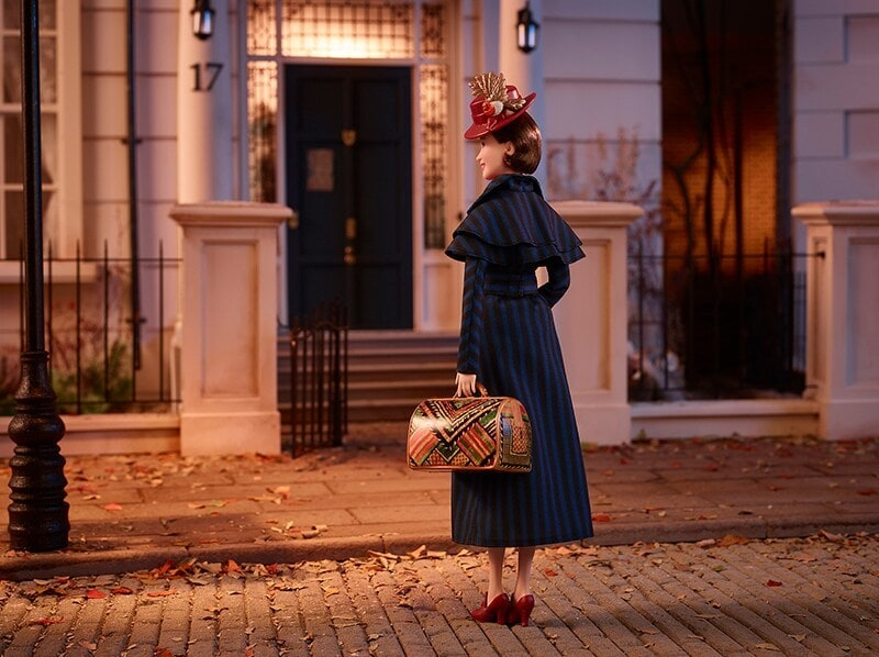 Mary Poppins doll standing in on streets