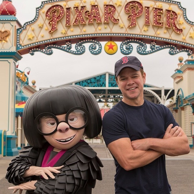 I Can't Stop Thinking About This Photo of Matt Damon With Edna Mode