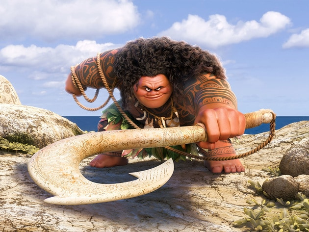 Maui: half god, half mortal, all awesome. Maui is voiced by Dwayne 'The Rock' Johnson.