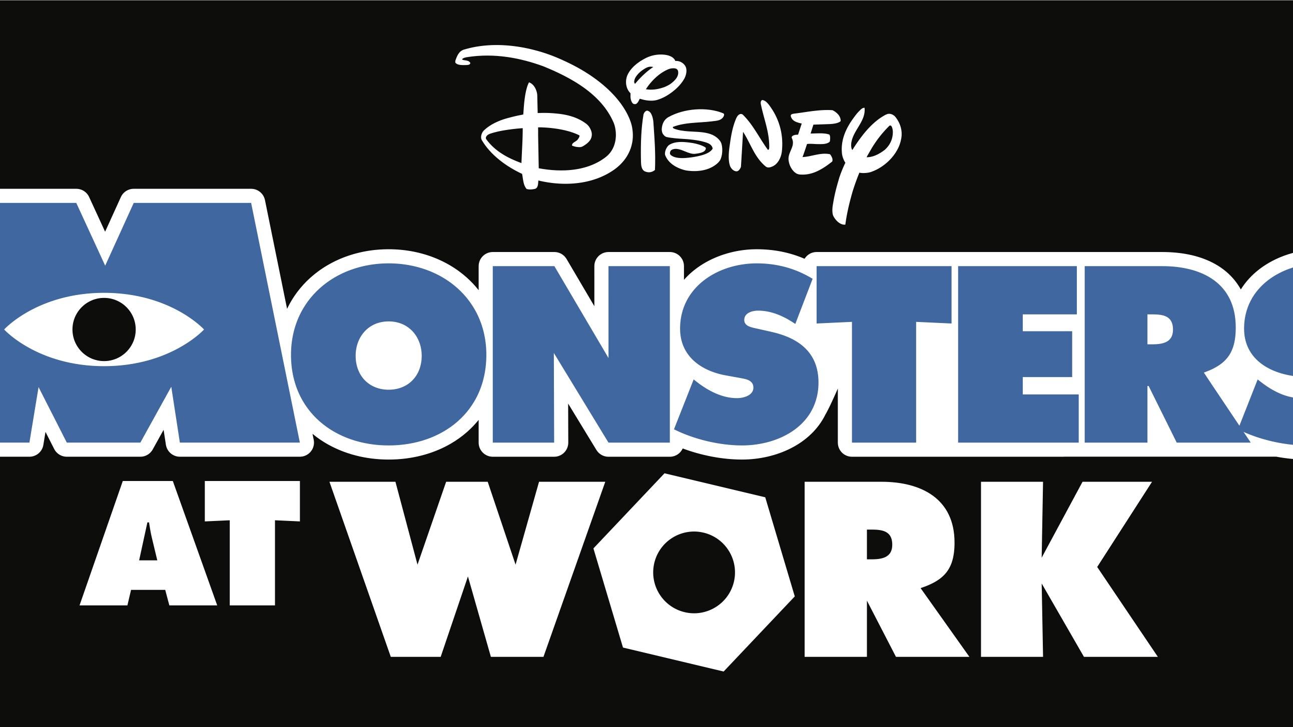 Monsters At Work Logo - Dark