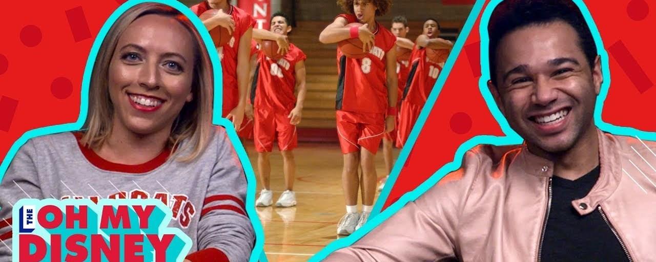 Corbin Bleu watches high school musical