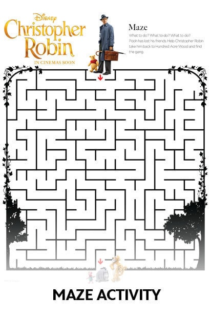 Christopher Robin - Activity Kit - Maze