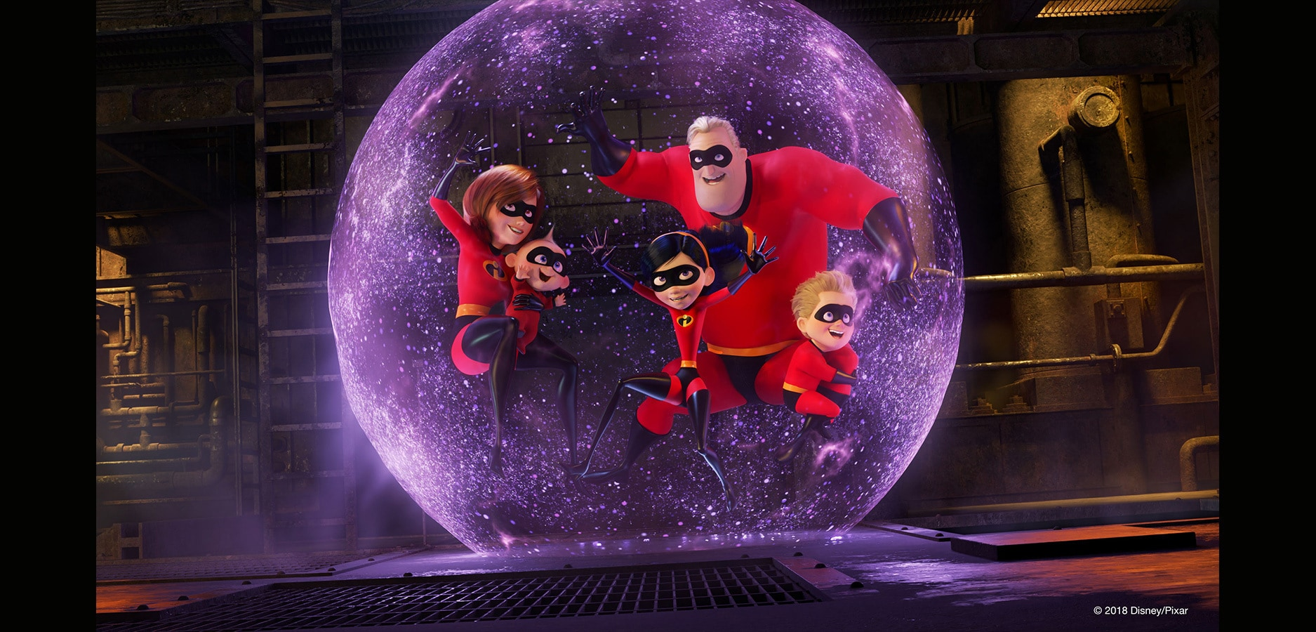The Incredibles family unite