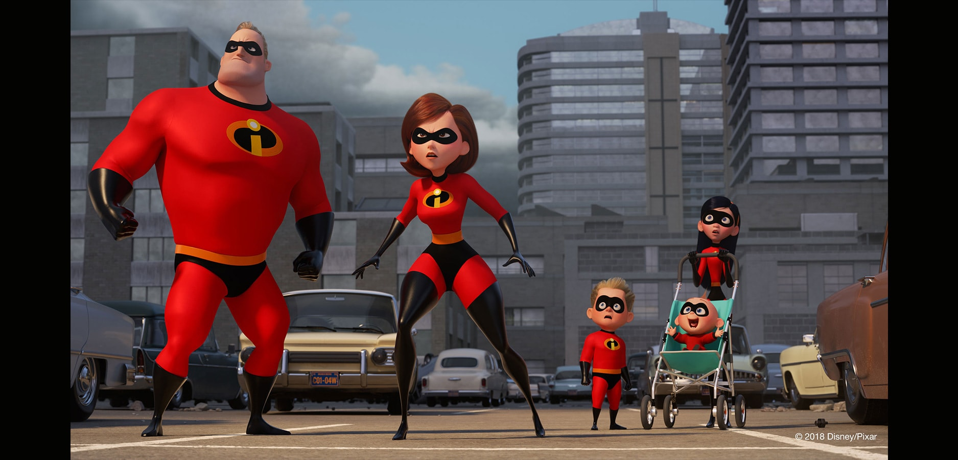 The Incredibles face danger in their super suits