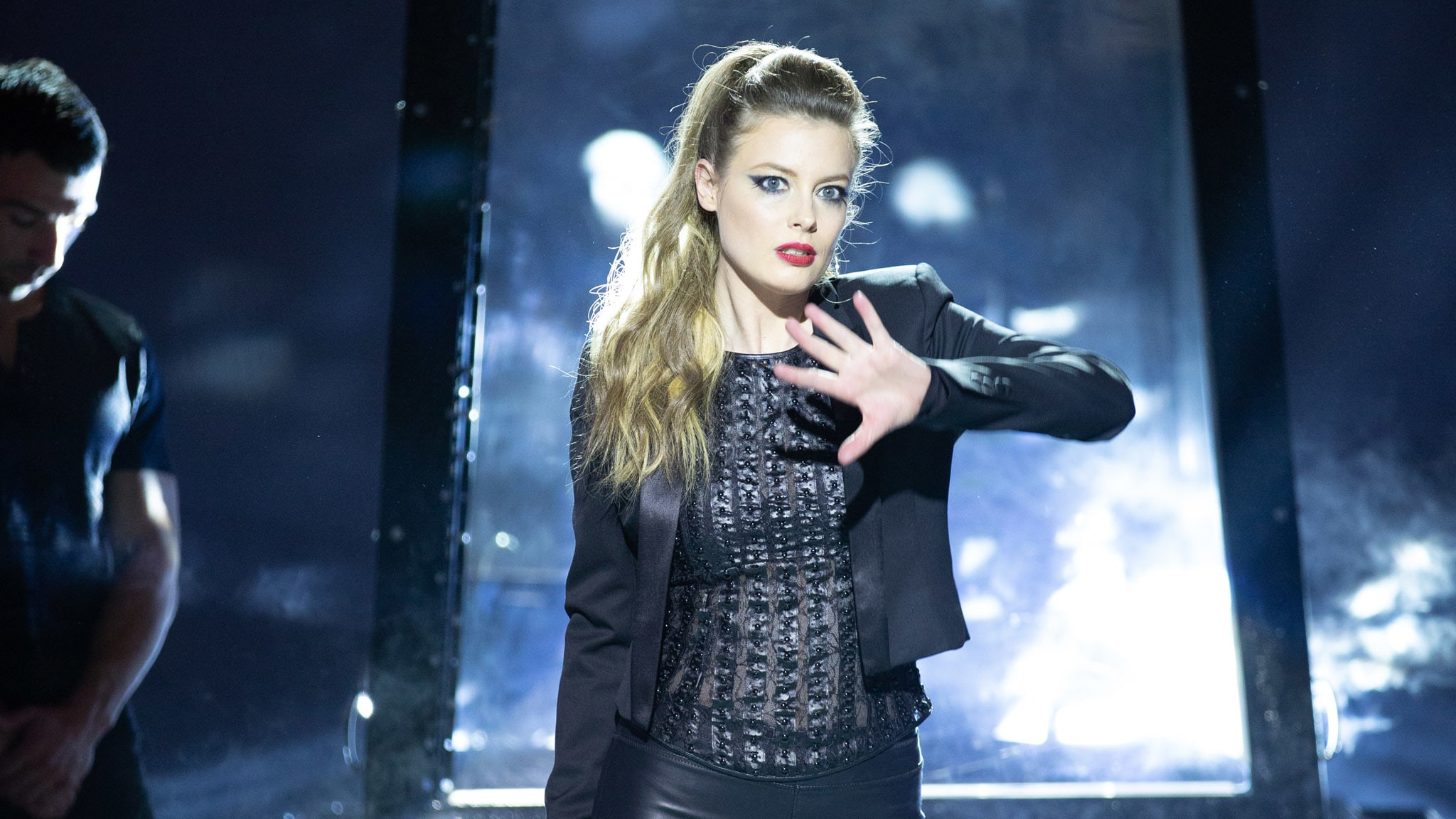 Gillian Jacobs as Darkwood in Disney's MAGIC CAMP. Photo by Justina Mintz. © 2020 Disney Enterprises, Inc. All Rights Reserved.