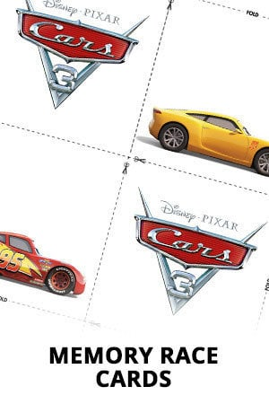 Cars 3 - Memory Race Card