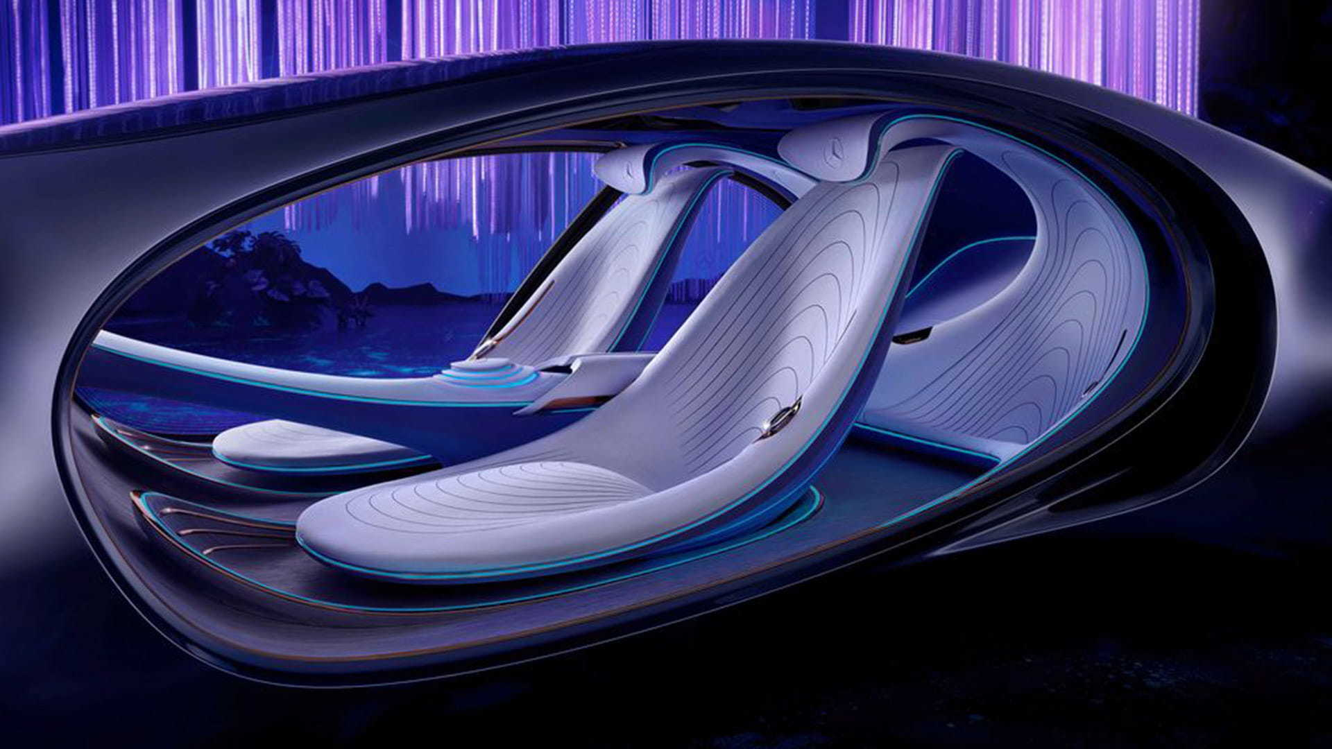The VISION AVTR seats are made from sustainable materials.