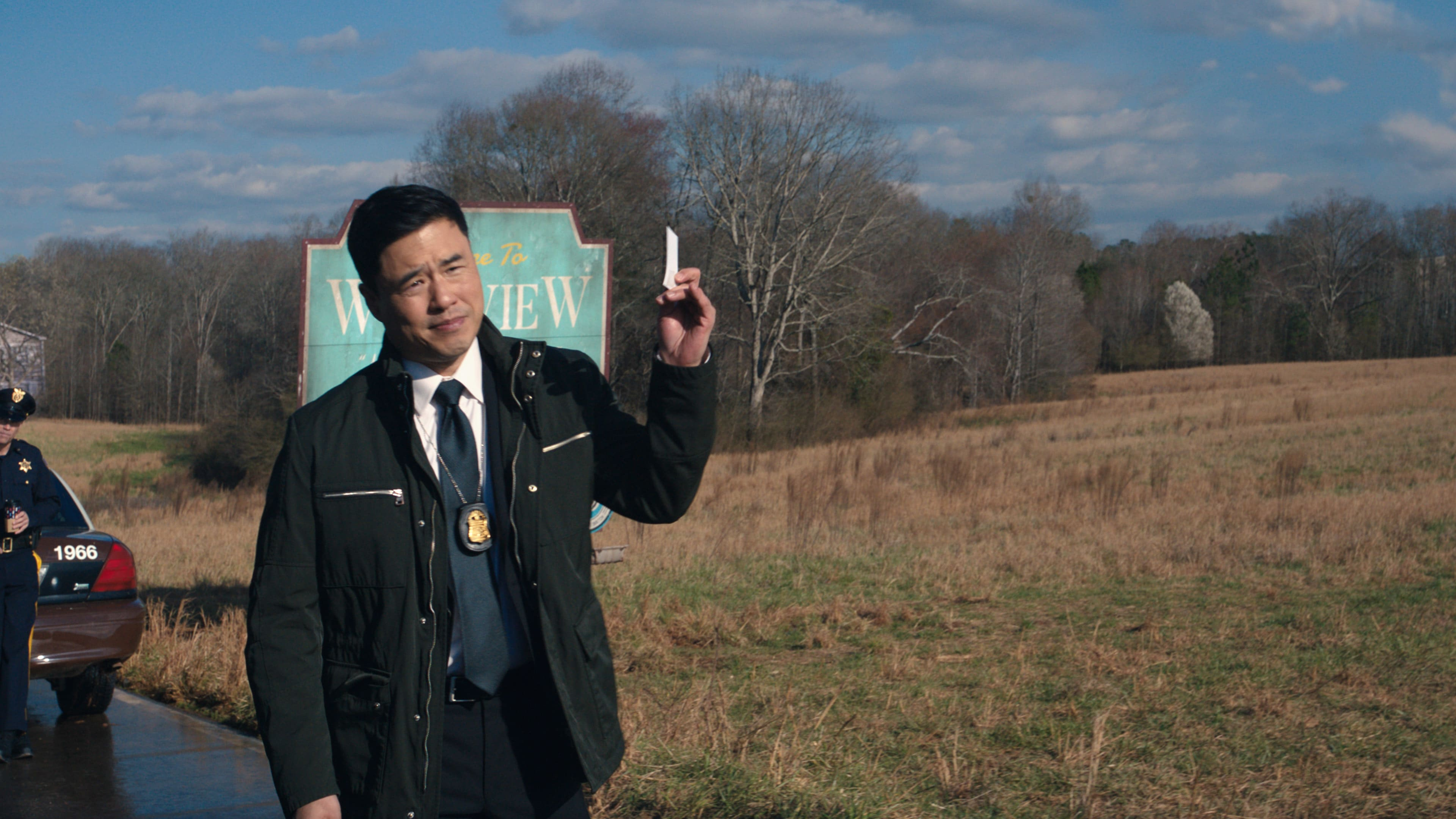 Randall Park as Jimmy Woo in Marvel Studios' WANDAVISION exclusively on Disney+. Photo courtesy of Marvel Studios. ©Marvel Studios 2021. All Rights Reserved.