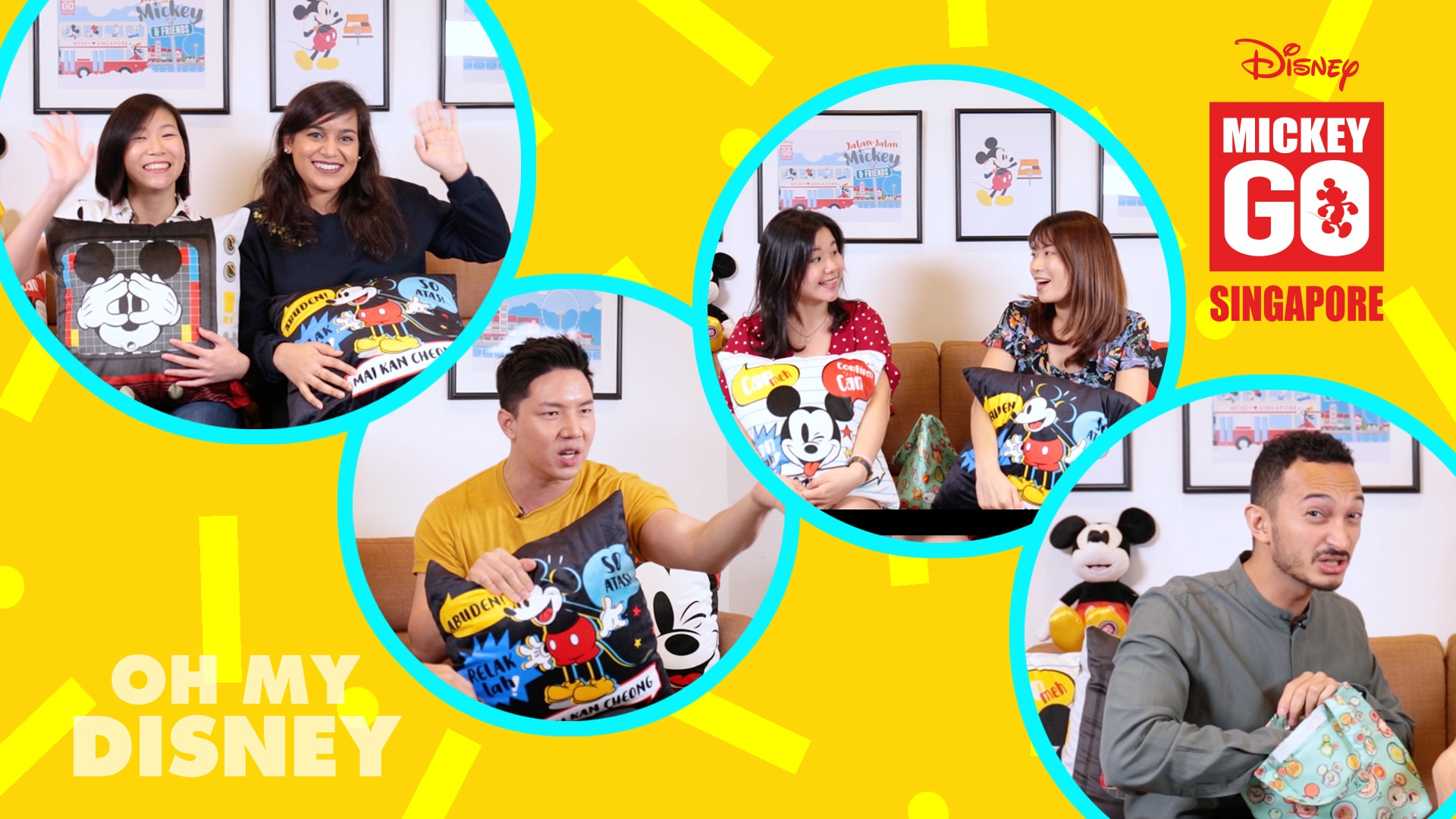 "Disney Staff Play ""Singlish"" Charades, Mickey Go Singapore Edition!"