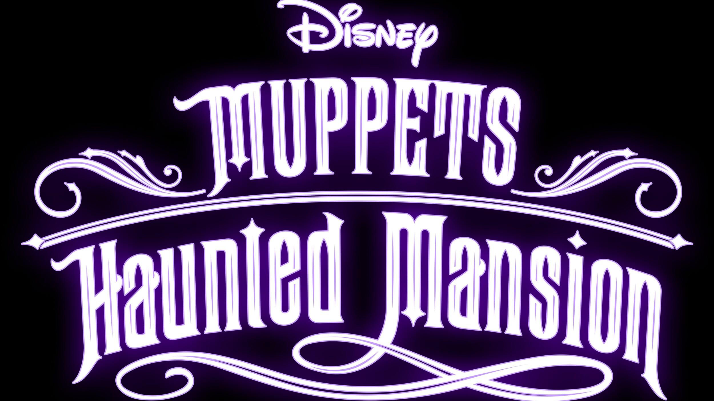 Muppets Haunted Mansion Logo - Black