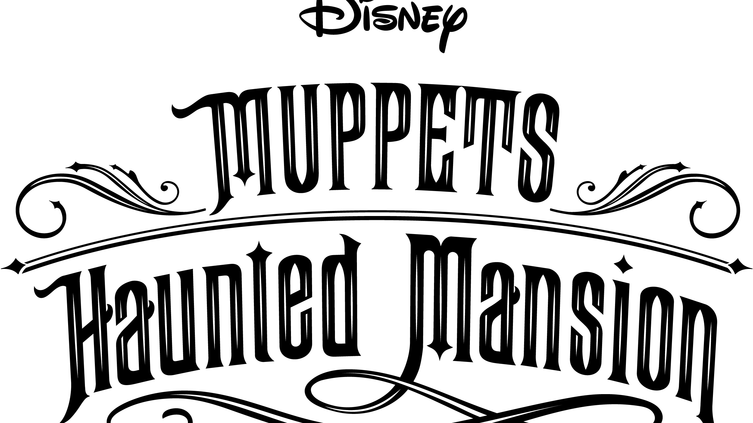 Muppets Haunted Mansion Logo - White
