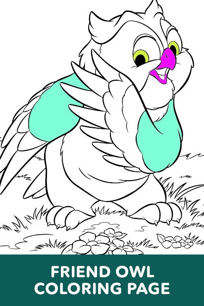 Bambi - Owl Coloring Page