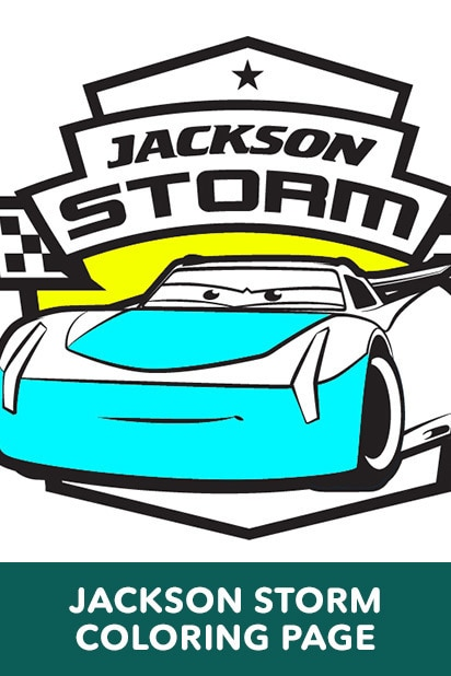 Cars 3 - Jackson Storm Coloring Page