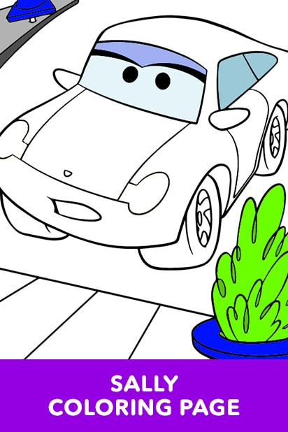Cars - Sally Coloring Page