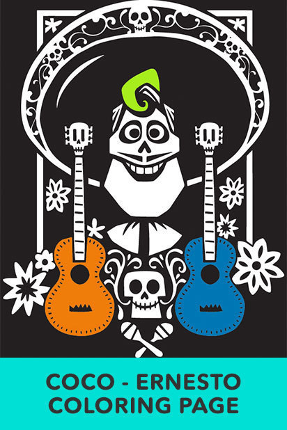 Coco Coloring Pages and Activity Sheets | Crazy Adventures in ... | 618x412