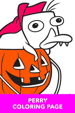Coloring Page - Phineas and Ferb - Perry Halloween