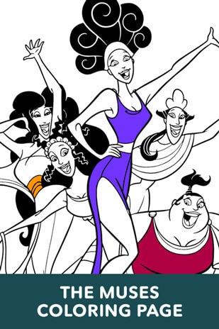 Hercules - The Muses Coloring Page