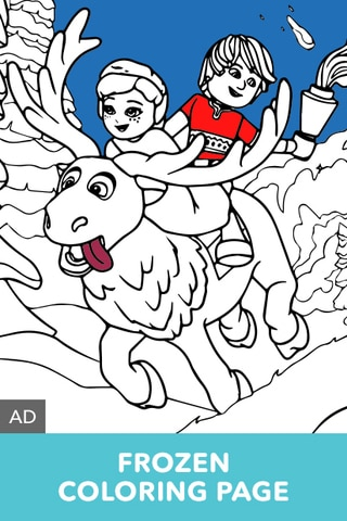 LEGO Disney Frozen Coloring Page