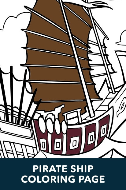 Pirates Ship Coloring Page