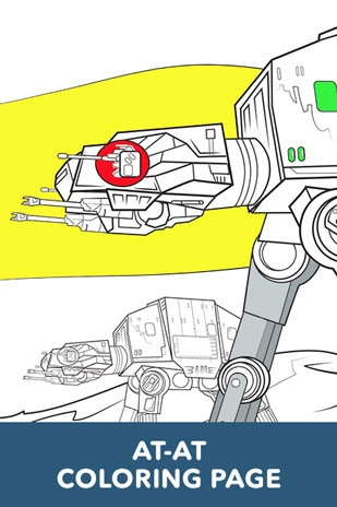 AT-AT Coloring Page - Star Wars LOL