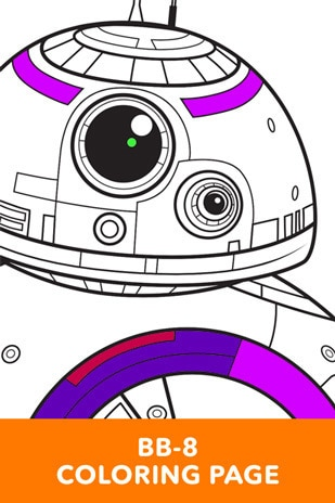BB-8 Coloring Page - Star Wars LOL