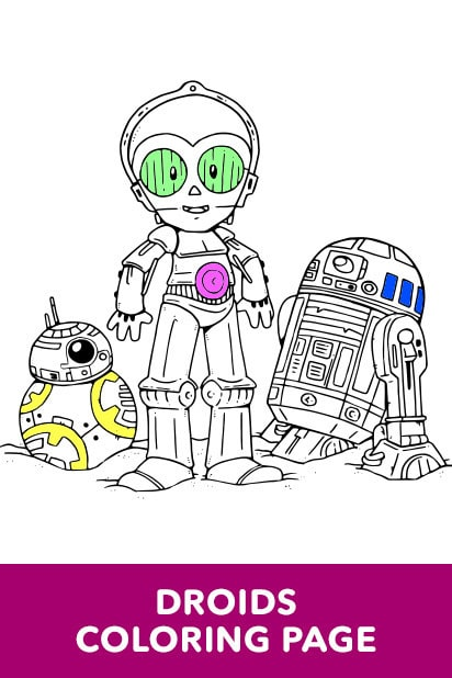 Star Wars - Art of Coloring - Droids