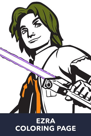 Ezra Bridger Coloring Page - Star Wars LOL