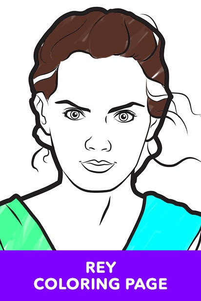 Rey Coloring Page (Star Wars LOL)